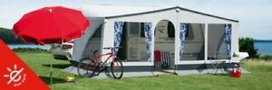 Wohnwagen Vorzelt dwt Winner 200cm tief grau Caravan