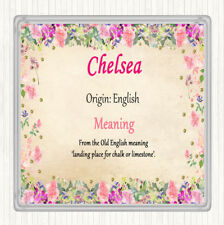 Chelsea Name Meaning Drinks Mat Coaster Floral