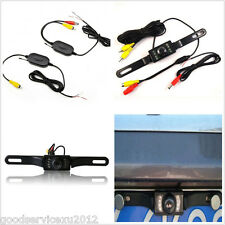 Car License Plate Reverse Backup Camera Wireless Video Transmitter/Receiver Kits