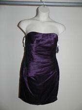 Davids Bridal Dress Size 2 Plum Purple  Strapless Bridesmaid F15629 NWT $149