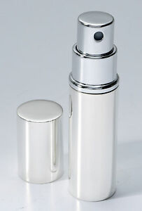 SOLID SILVER PERFUME ATOMISER / SCENT SPRAY BOTTLE (NEW) BY CARRS ENGRAVABLE