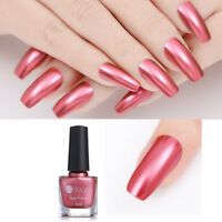 6ml UR SUGAR Peach Pink Mirror Metallic Nail Art Polish Manicure Varnish Decor