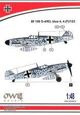 Owl Decals 1/48 MESSERSCHMITT Bf-109G-4/R3 Blue 4 4.(F)/123 Aufklarer