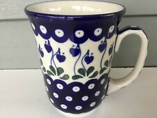 NEW C.A. Polish Pottery 16 oz Bistro Mug-Bleeding Hea