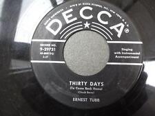 Ernest Tubb Thirty Days 1955 Rare Hillbilly Rocker Decca 29731 VG+