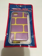 Iphone 4/4s hard brick style case purple/yellow phone case