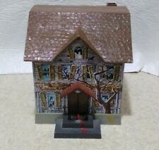 NOS Vintage 1960 Disney Brumberger Tin Battery Operated Haunted House Bank