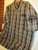 Authentic Harley-Davidson Men's XL Embroidered Garage Shirt HD Performance PLAID
