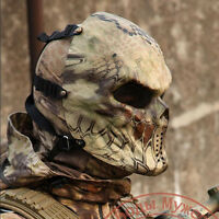 Cosplay Paintball Airsoft Metal Mesh Eye Protection Full Face Mask Skull Hland