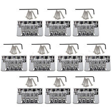 10 sets Chrome 4 String Fixed Bridge For Mandolin Ukulele Cigar Box Guitar