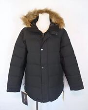 Burton Traverse Insulated Black Puffer Coat Faux Fur Hood Women's Size Large
