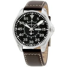 Hamilton Men's H64611535 Khaki King Pilot Black Day Date Dial Watch