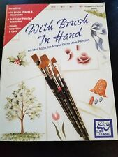With Brush In Hand Acrylic Decorative Painting Idea Book (1991)