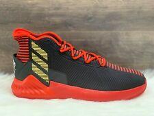 NEW Adidas D Rose 9 Basketball Shoes Black/Red/Gold Derrick Rose Men's Size 13.5