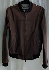MARC by MARC JACOBS Leather Zip-Up Bomber Jacket, Brown, Small