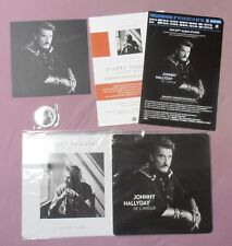 6 PRODUITS JOHNNY HALLYDAY STICKER SERIGRAPHIE PLAN MEDIA/POSTER BADGE TRèS RARE