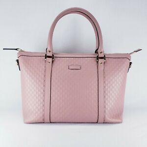 Gucci Microguccissima Leather Zip Top Tote - Light Pink (PB1016181)