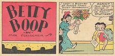 EXTREMELY RARE BETTY BOOP SUNDAY PAGE - Nov 7, 1936 - VF/NM - MAX FLEISCHER