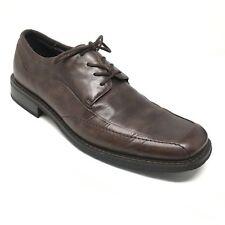 Men's Florsheim Oxfords Dress Shoes Size 11M Brown Leather Apron Toe Laced F3