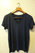 SKARGORN #46 Short Sleeves Cotton Tee In Nave Blue Wash Size XSmall Nwot