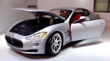 LGB 1:24 Echelle Maserati Gran Turismo 2008 Argent Burago Voiture Miniature
