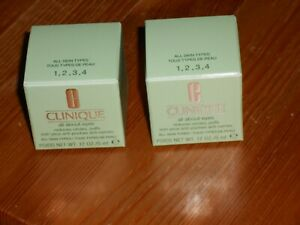 NEW  2 x CLINIQUE BRAND NEW ALL ABOUT EYES CREAM / GEL 5ML IN BOX TRAVEL SIZE