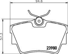 Mintex Rear Brake Pad Set MDB2258  - BRAND NEW - GENUINE - 5 YEAR WARRANTY