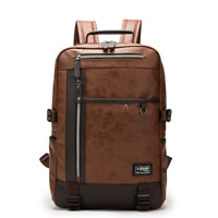 New Mens Leather School Backpack Laptop Notebook Travel Bag BL