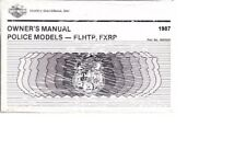1987 Harley POLICE FLHTP FXRP Owner's Owners Owner User Manual 99478-87