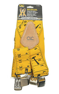 CLC Custom LeatherCraft 110RUL Yellow Measuring Tape Rule Heavy Duty Suspenders