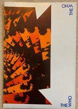 THE WHO - Official Programme - Tour 1973 - 'Quadrophenia Tour'