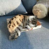 Realistic Lifelike Cat Plush Toy Simulation Stuffed Best Animal Fluffy Doll B1Q6