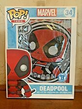 Marvel POP! Tees Deadpool #34 Black T Shirt Taco Tuesday Size Large-NEW!
