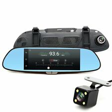 "Junsun 7"" 3G GPS Bluetooth Dual Lens Rearview Mirror Car Camera DVR"