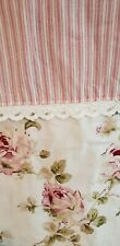 PIPER & WRIGHT FABRIC SHOWER CURTAIN SHABBY CHIC ROSALIE PINK FLORAL