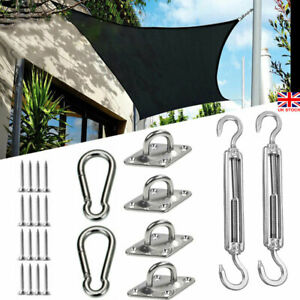Stainless Steel Sun Shade Sail Accessory Canopy Fixing Fitting Mounting Hardware