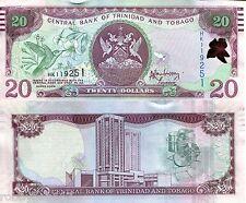 TRINIDAD 20 Dollars Banknote World Paper Money UNC Currency Pick p-49A Bird Bill