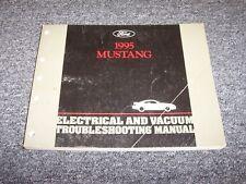 1995 Ford Mustang Electrical Wiring & Vacuum Diagram Manual GT GTS 3.8L 5.0L