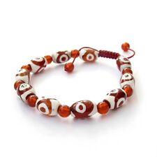Tibet Buddhist Heaven Eye Bead Agate Gem Prayer Beads Mala Bracelet
