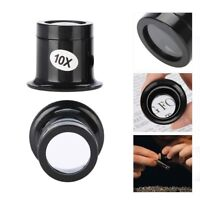 Eye Watch Jeweler Repair 5X 10X Magnifier Magnifying LED Light Glass Loupe Lens