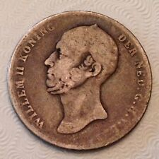 ~ Netherlands Wilhelm II 1/2 One Half Gulden