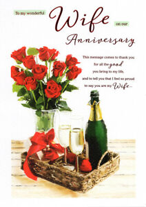 To My Wife On Our Wedding Anniversary Card