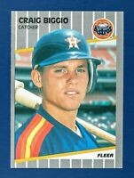 Craig Biggio #353 (1989 Fleer) Rookie Baseball Card, Houston Astros, HOF