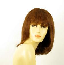 perruque femme 100% cheveux naturel châtain clair cuivré ref ISA  30