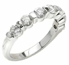 7 Diamond Wedding Ring Anniversary Band 1.12 carat F color VS clarity 0.16 carat