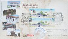 Overprint Original Melaka Jogja City of Museums Malaysia Indonesia FDC 2014