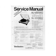 Technics SL1200/SL1210 MK2 Turntable Service Manuals