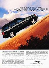 1996 Jeep Grand Cherokee Limited - v8 hood - Vintage Advertisement Ad A22-B
