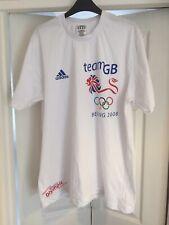 Adidas Beijing Olympics 2008 T-Shirt Size Large White Rare Used Team Gb
