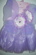 PRINCESS DRESS UP SET, PURPLE. HEADBAND / TUTU / WINGS, NEW